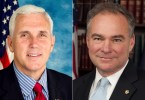 Vice presidential nominees Mike Pence and Tim Kaine