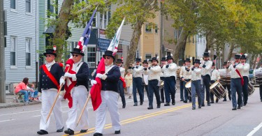 Marching bands took part on the Columbus Day Parade in East Boston, on Sunday Oct. 7. Photo by Flaviana Sandoval / BU News Service