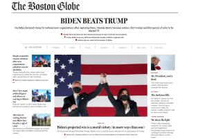 Boston globe presidential race 2020