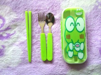 Sendok Anak Cartoon Stainless Steel Cutlery keropi