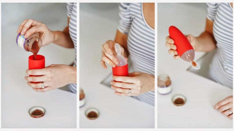 cara menggunakan botol sendok boon squirt