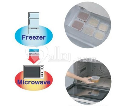 richell food containers freezer & microwave safe