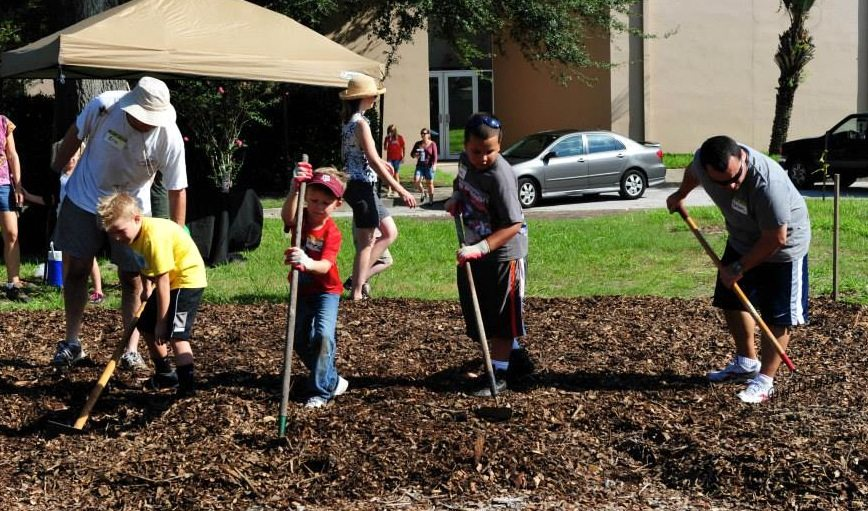 Orlando Junior Academy Begins Community Give-Back Garden in College Park