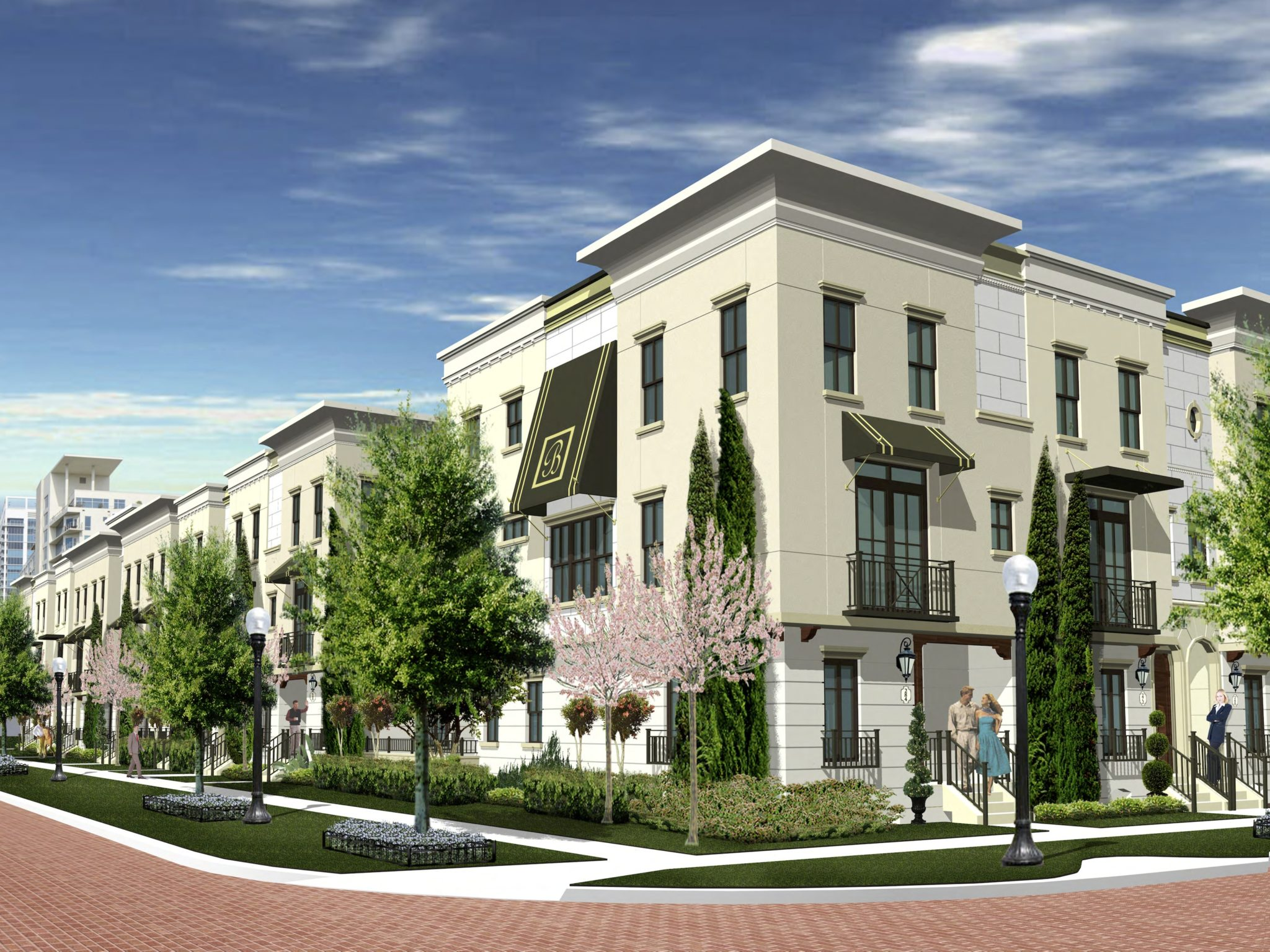 updated renderings for thornton park townhomes bungalower. Black Bedroom Furniture Sets. Home Design Ideas