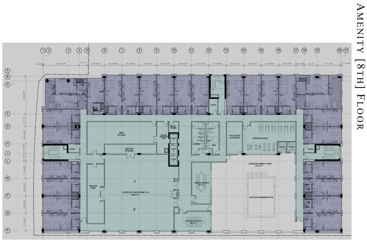 Hyatt place hotel planned for downtown orlando bungalower for Floorplan com