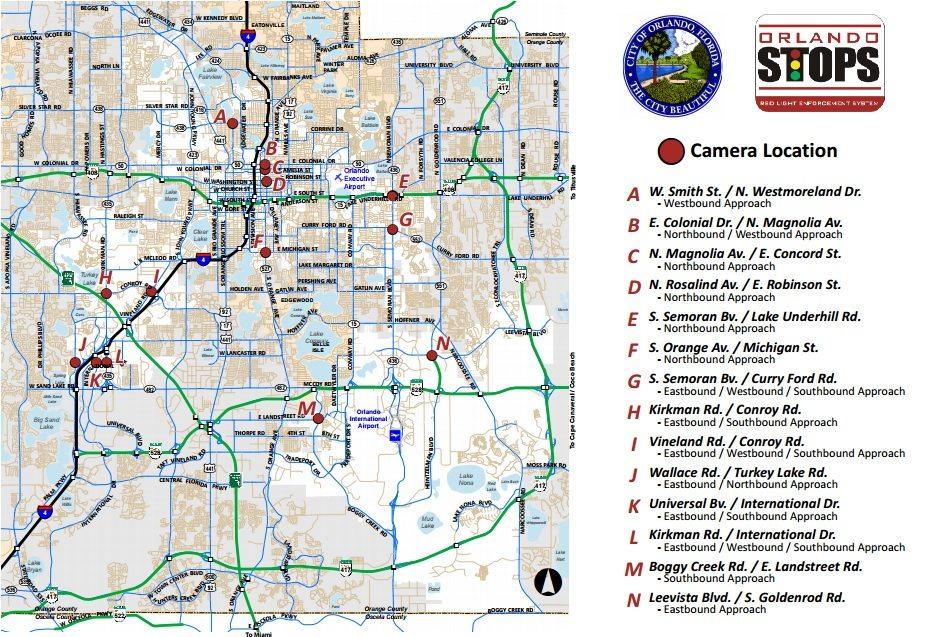 Map Courtesy Of City Of Orlando Awesome Ideas