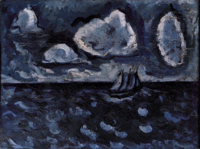 Marsden Hartley Stormy Sea No. 2, n.d. Oil on Academy Board 12 1/8 x 16 inches Collection of the Farnsworth Art Museum, Museum Purchase made possible in part by gifts from Mr. Edwin L. Beckwith and Dr. Peter Sheldon Image courtesy of the Farnsworth Art Museum