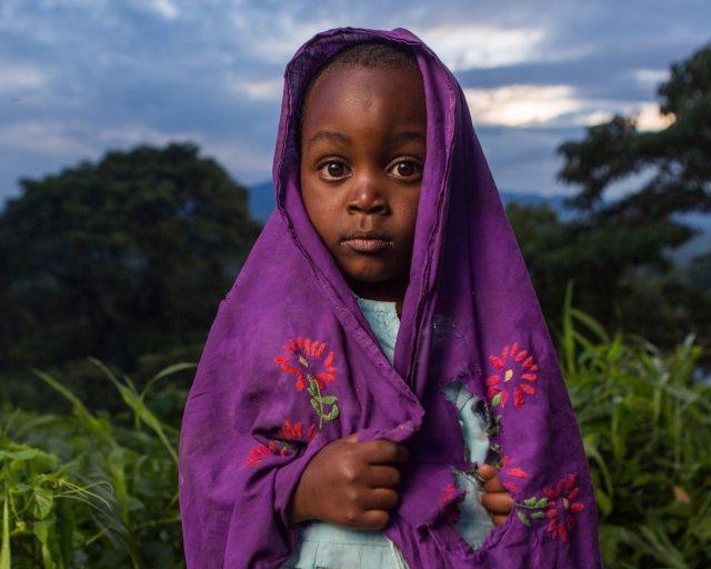 A Park Rangers Daughter at Dusk, Rumangabo, Virunga National Park.