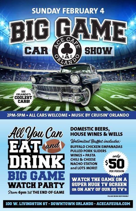 The Big Game Car Show Bungalower - Ace cafe orlando car show