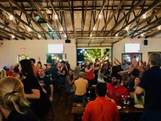 Bar full of people