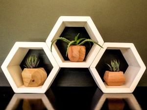 White Hex Shelf