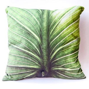 Tropical Leaf Cushion Cover