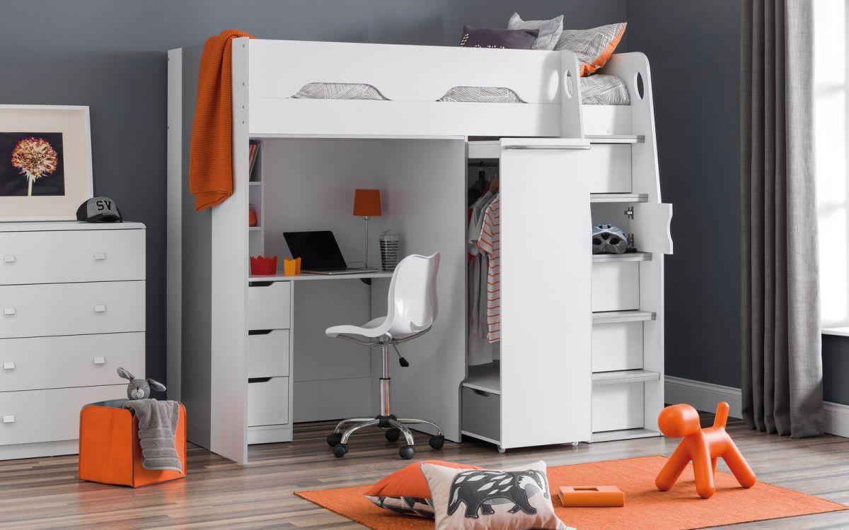 Pegasus Highsleeper Loft Amp Study Bed With Storage 635