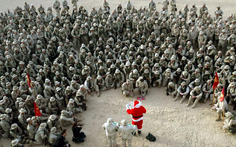 Merry Christmas To The US Military Tacky Raccoons