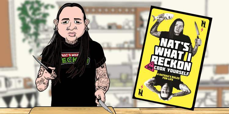 Drawing of Nat's What I Reckon in kitchen