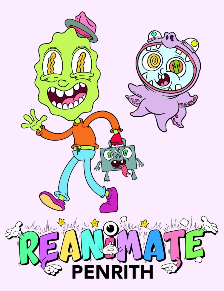 Re-Animate Penrith illustration project