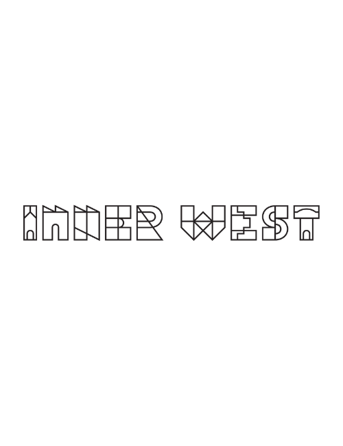 line drawing of Inner West Council logo