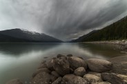 A quick stop at Moose Lake on my way to Jasper on this cloudy rainy evening.