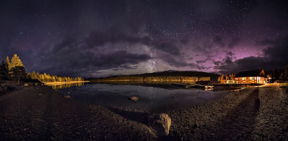Maligne Lake at Night