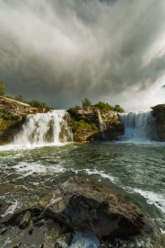 Located in Southwest Alberta on Highway 3. Lundbreck Falls is sure a hidden gem.