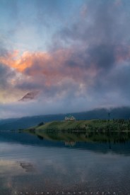 A morning with gorgeous sunlight and unforgettable momery at Waterton Lakes National Park, Alberta, Canada