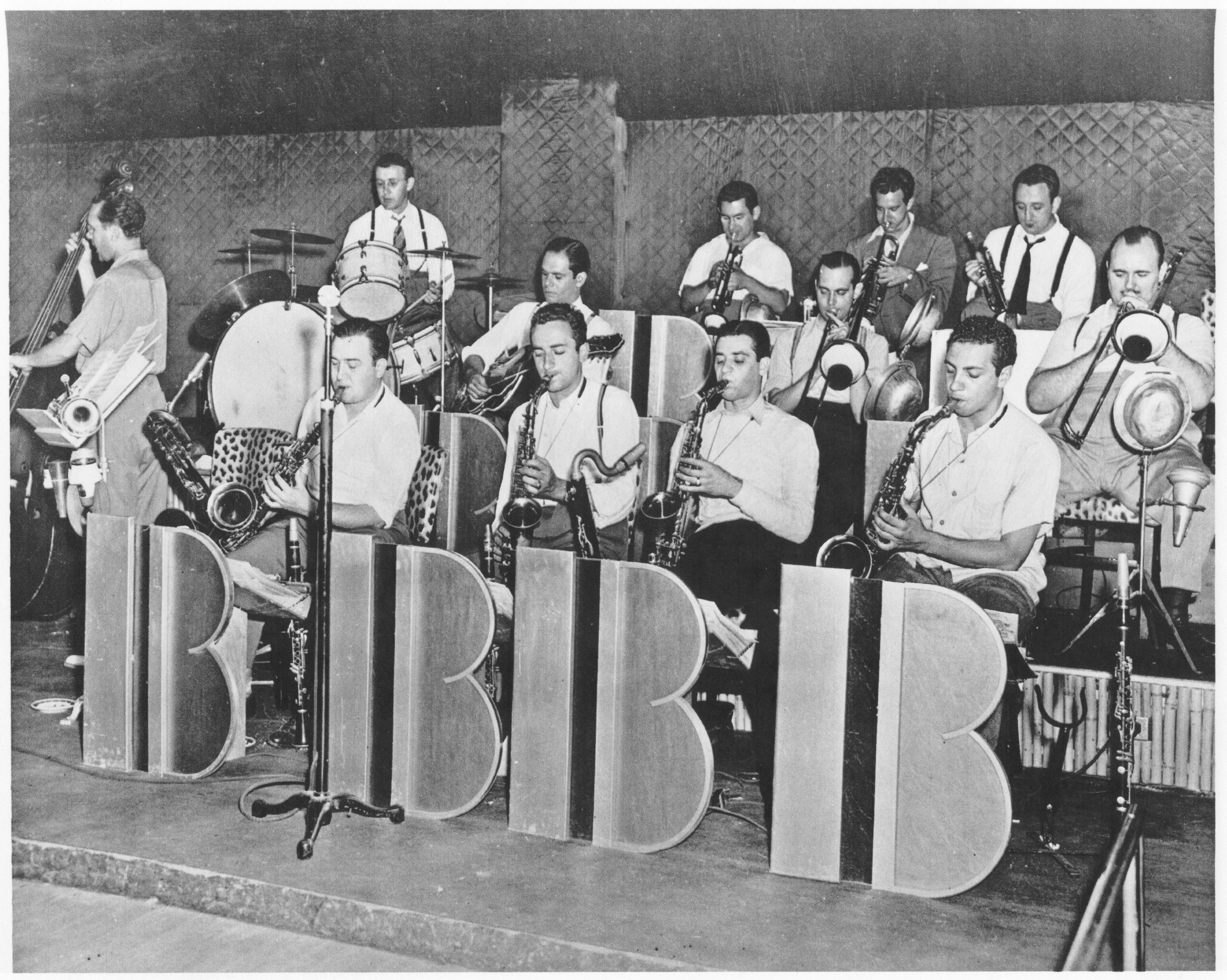 The Berigan band in rehearsal at Chicago's Sherman Hotel; July-August, 1939.