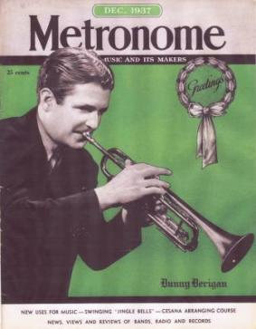 Berigan's portrait graced the cover of Metronome magazine in December of 1937.