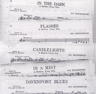 """Sheet music for the selections from the """"Beiderbecke Suite"""" recordings Berigan made at the end of 1938."""
