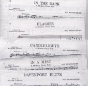 "Sheet music for the selections from the ""Beiderbecke Suite"" recordings Berigan made at the end of 1938."