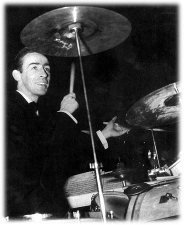 Drummer Dave Tough was one of the finest during the swing era. He powered the Berigan band in early 1938.