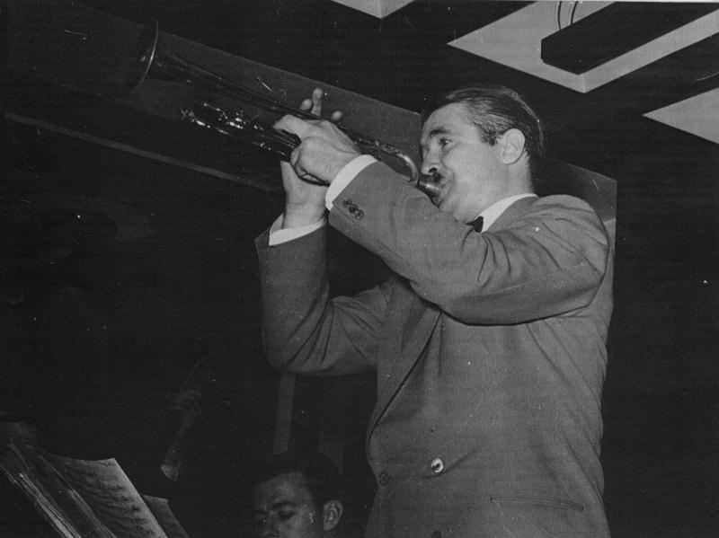 Berigan in the fall of 1940, after he left Tommy Dorsey's band and resumed leading his own band.