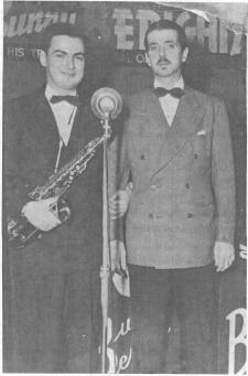 Last known photo of Berigan, May 1942. To his right is saxophonist Bernie Scherr.