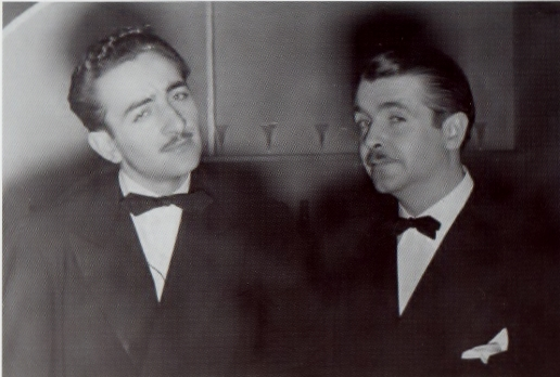 Alto saxophonist/clarinetist Gus Bivona with Berigan.  No matter how dire things were on the business side of the Berigan band, there was much mirth between Bunny and his bandsmen.;