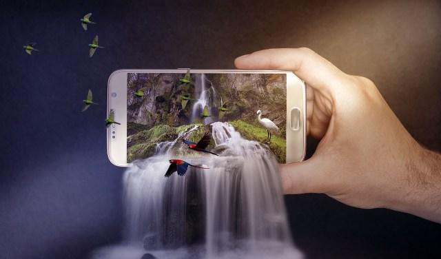 cellphone waterfall