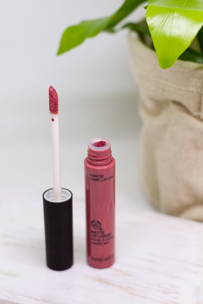 the body shop matte lip liquid nairobi camellia bunnyechoes