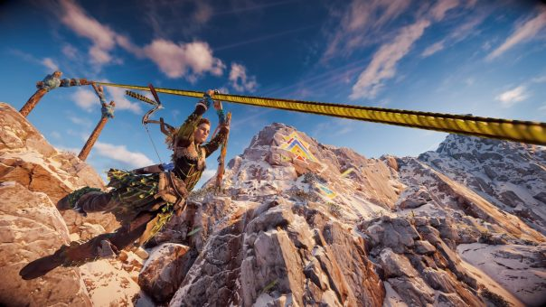 In Horizon Zero Dawn, we follow the story of a girl named Aloy. The story begins in her infancy, an exiled upbringing where she and her father-figure were shunned by their tribe for reasons not known until later in the game. That's why her caring so much about her past than the present doesn't feel forced. Her character is strong and the growth over the course of the story has an emotional punch.