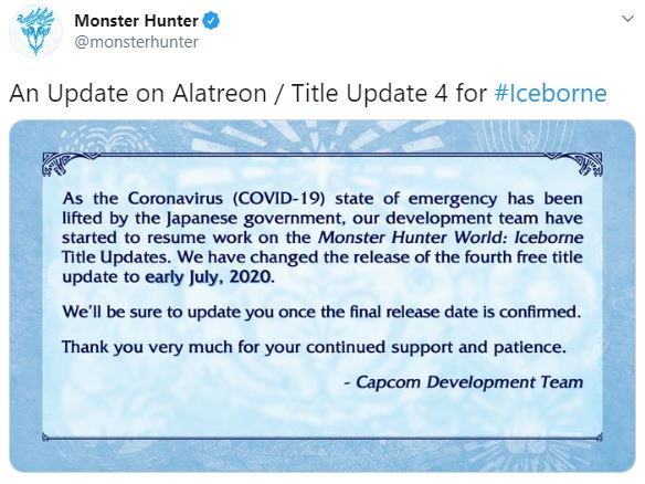 Monster Hunter World Iceborne Alatreon Update Bunnygaming Com