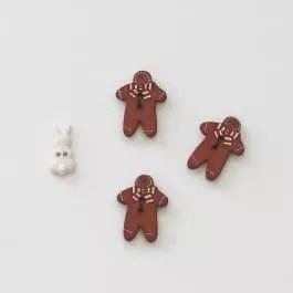 Gingerbread Men Buttons