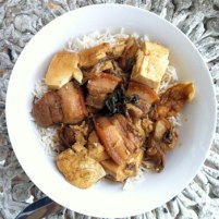 Nostalgia - 'muichoy' soy sauce pork belly & tofu