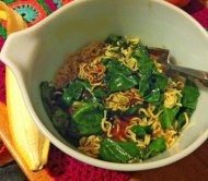 spinach, noodle and whatever