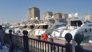 More yachts along the marina