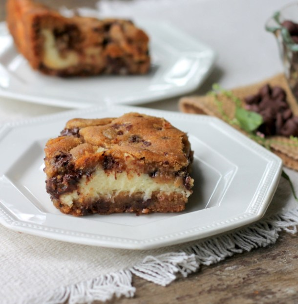 Chocolate Chip Cream Cheese Bars