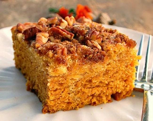 recipe: pumpkin cream cheese coffee cake [11]