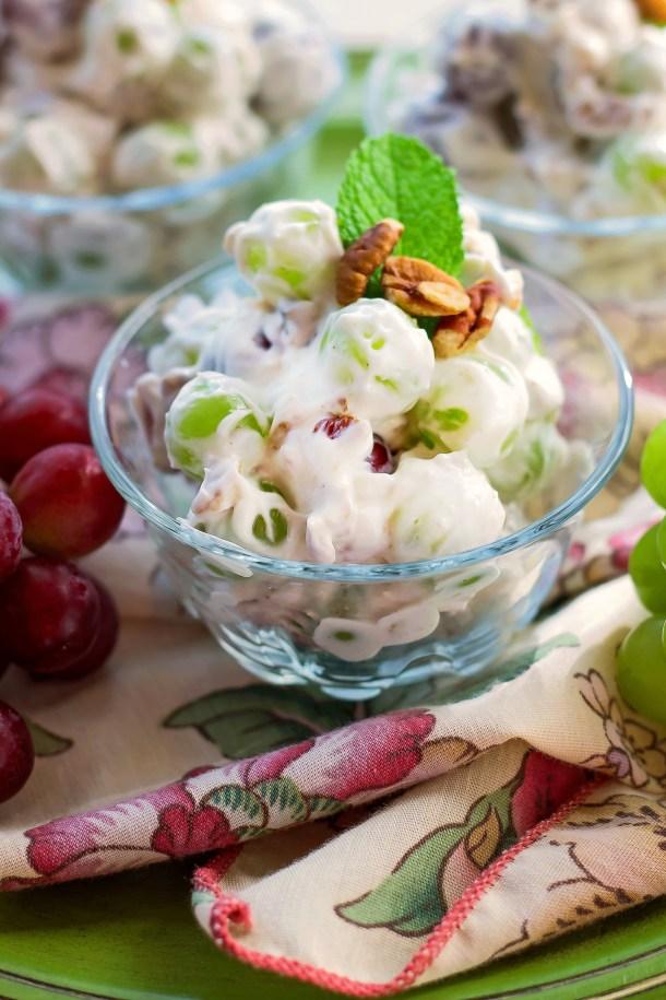 Cream and Delicious grape Salad