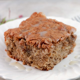 Apple Walnut Cake with Vanilla Glaze