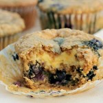 Oatmeal Blueberry Muffin with Cream Cheese Frosting