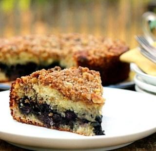 Blueberry Lovers Walnut Coffee Cake