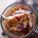 Single Serving Glazed Blueberry Mug Muffin