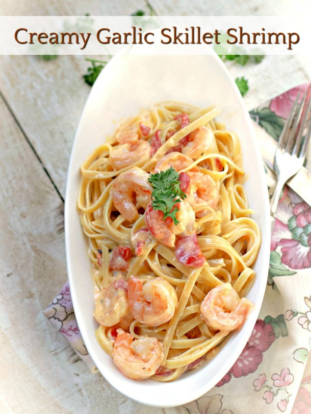Creamy Garlic Skillet Shrimp