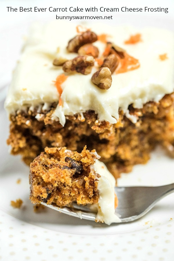 The best Carrot Cake with Cream Cheese Frositng